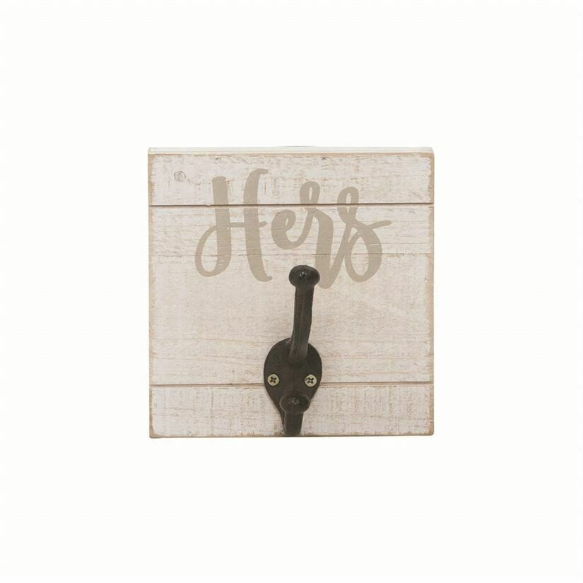 """Hers"" Wall Hook Plaque"