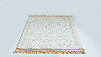 Libby Cotton Tufted Rug Natural & Mustard 4x6