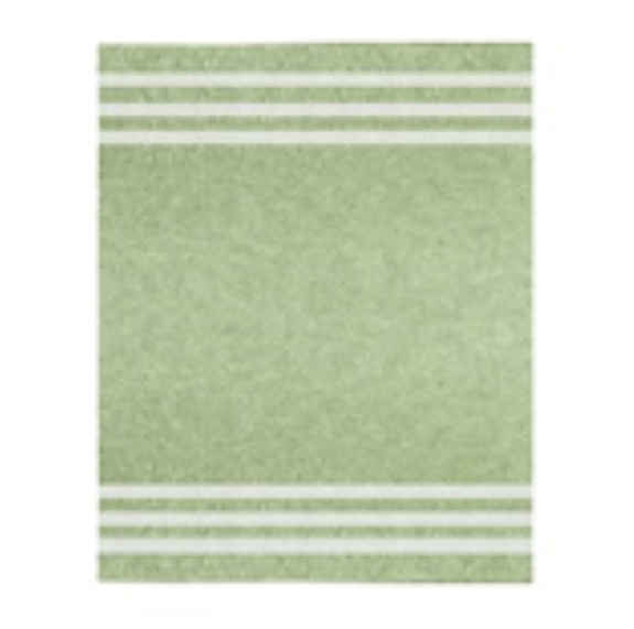 April Green Striped Throw