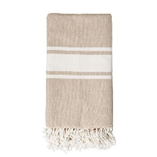 Lisa Cotton Throw, Beige