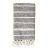 Julie Striped Throw, Grey