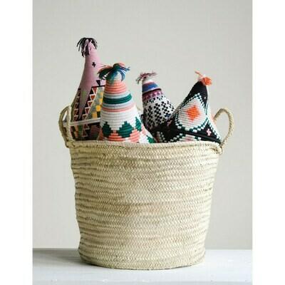 Morroccan Handwoven Basket W/ Handles