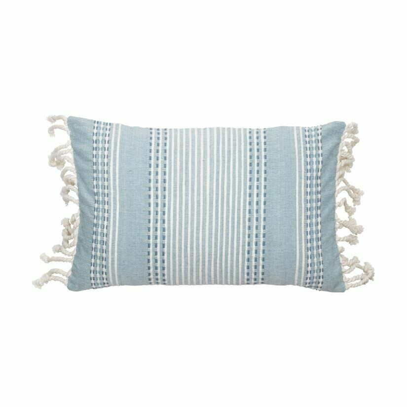 Nila Pillow 14x22, Blue