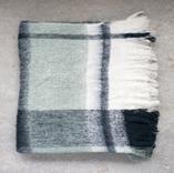 Olivia Plaid Mohair & Acrylic Throw 50x60