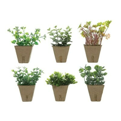 Small Faux Plant In Paper Pot