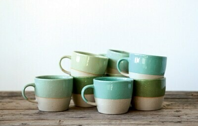 Stoneware Coffee Mug, Green