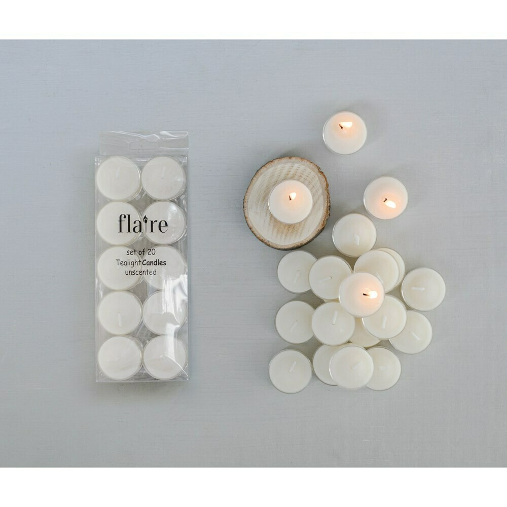 Tealights, Set Of 20, Unscented