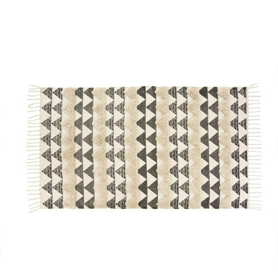 Tufted Peaks Rug, Black 3x5