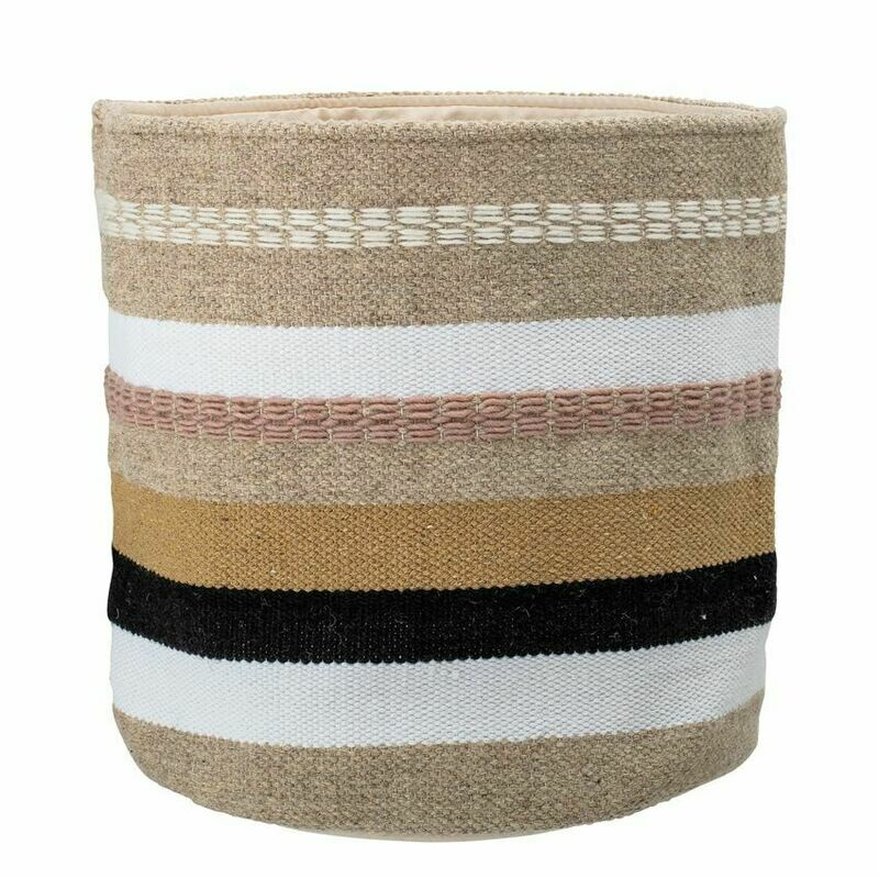 Wool & Cotton Striped Basket