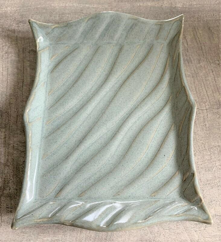 Wavy Soap Dish - Sage Grey