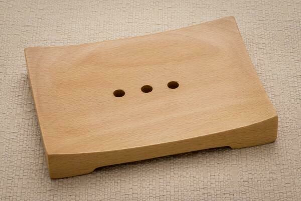 Wood Curved Soap Dish