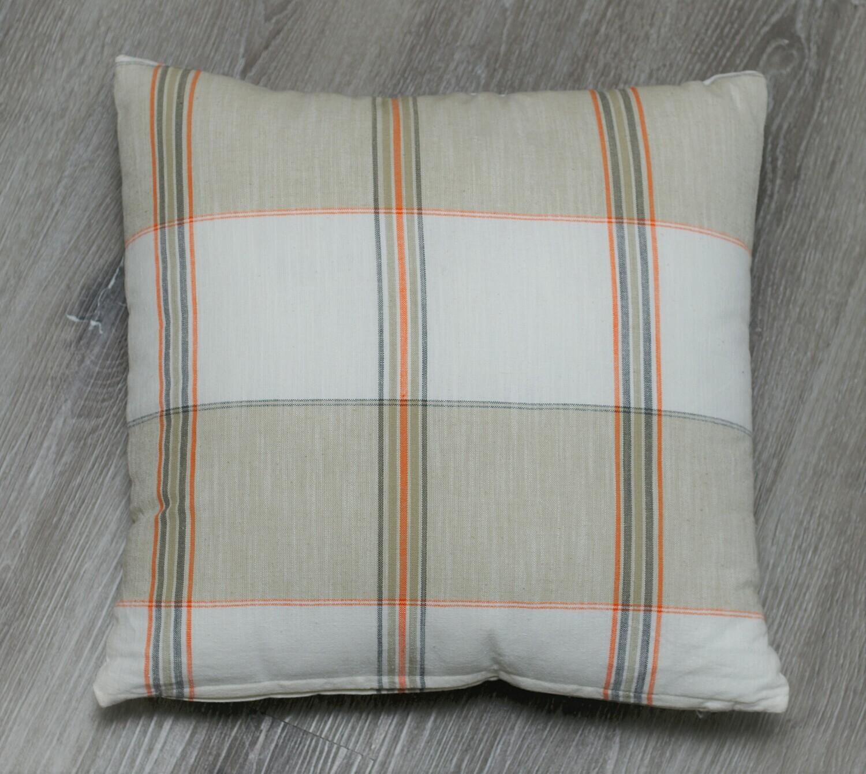 Taylor Cotton Plaid Pillow Rust