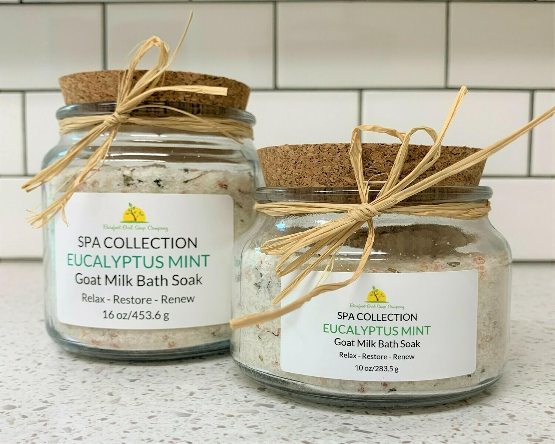 Eucalyptus Mint Bath Soak 16 oz
