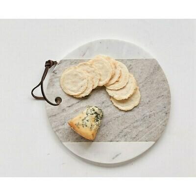 "9"" Round Marble Cheese Server"