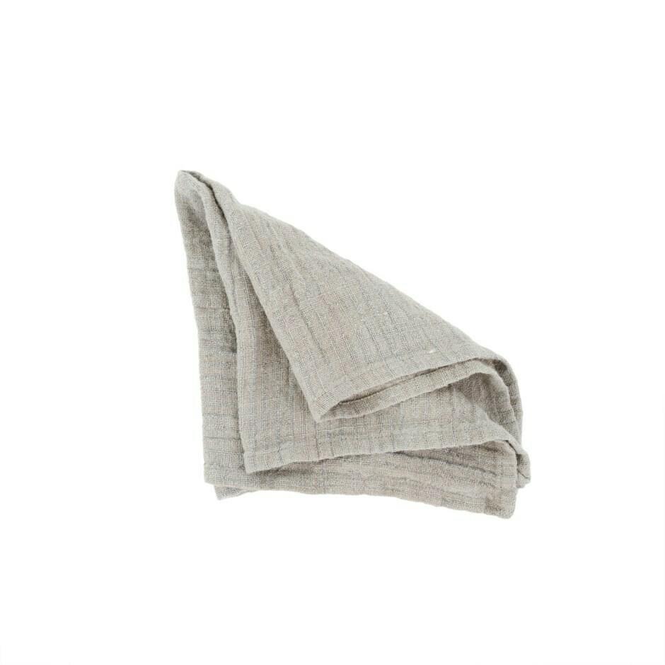 Rustic Linen Napkin, Medium Grey