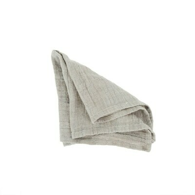 Rustic Linen Napkin, Medium Grey