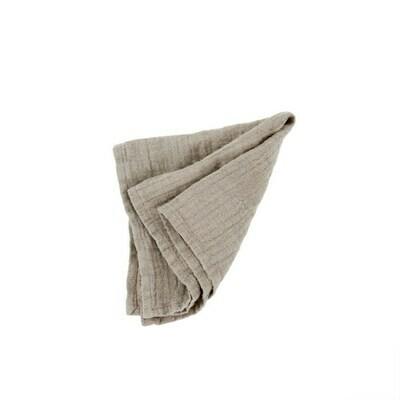 Rustic Linen Napkin, Stone