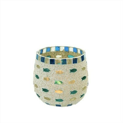 Seaside Mosaic Votive Holder