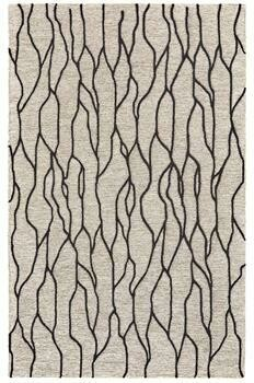 Enzo Hand Tufted Rug - Black/Taupe