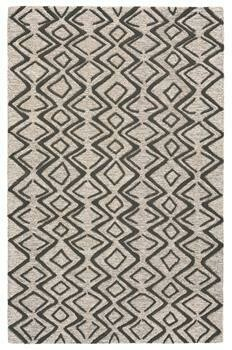 Enzo Hand Tufted Rug - Charcoal/Taupe