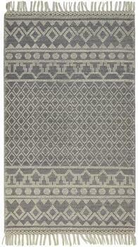 Phoenix Handwoven Rug - Grey/Ivory