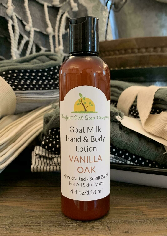 Vanilla Oak Lotion