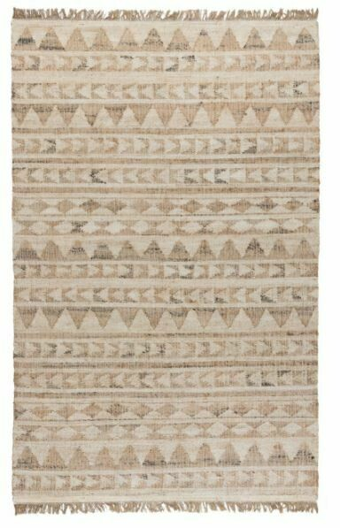 Solana Distressed Jute Rug Ivory/Natural