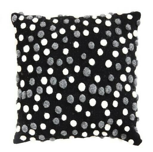 "Popcorn Wool Pillow, 17"""