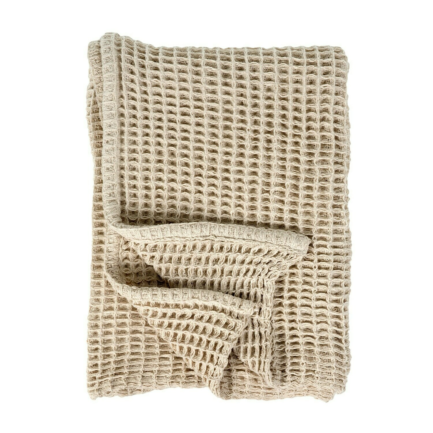 Honey Woven Throw Natural