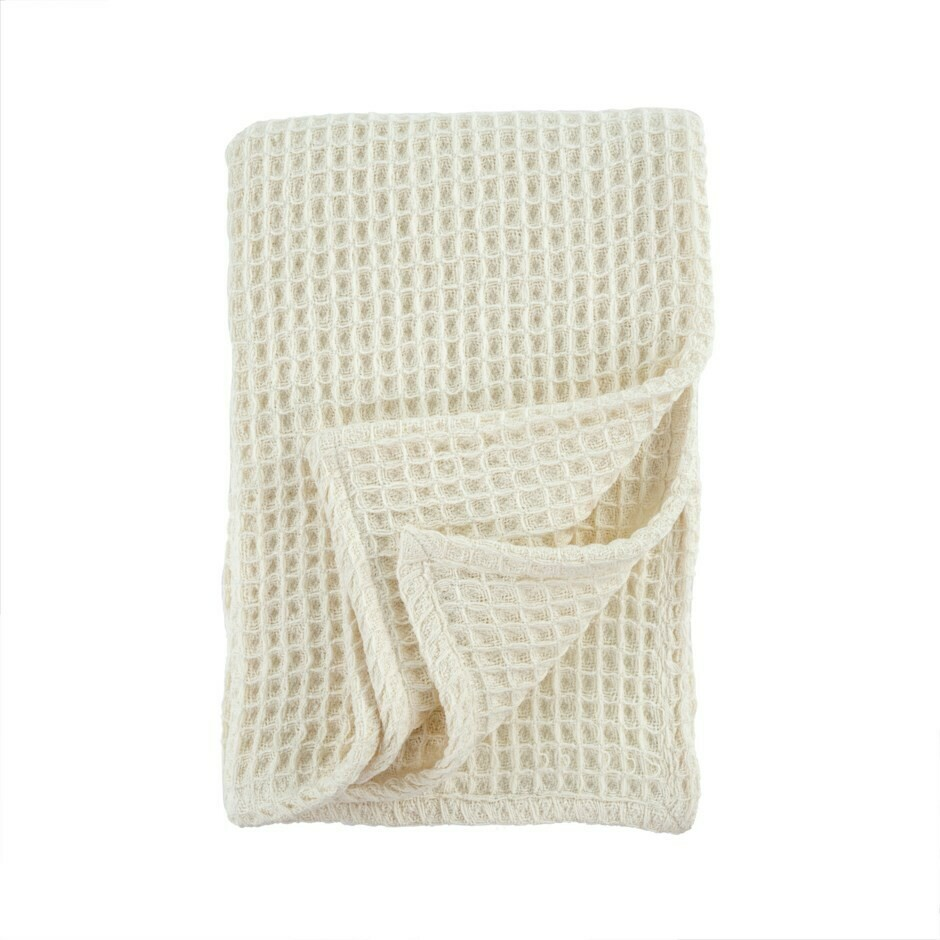 Honey Woven Throw Ivory