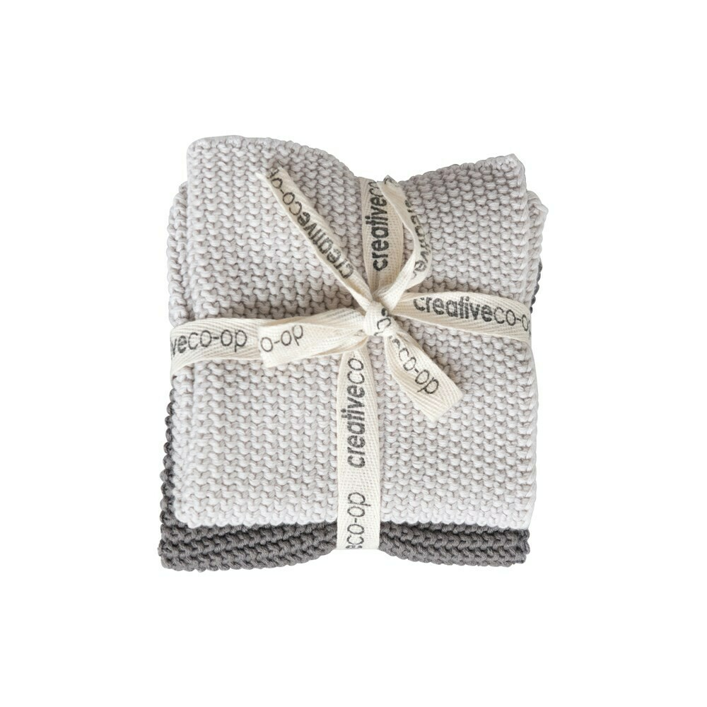 Cotton Knit Dish Cloths Set Of 2