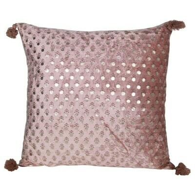 """Blanche Cotton & Velvet Pillow, 18"""""""