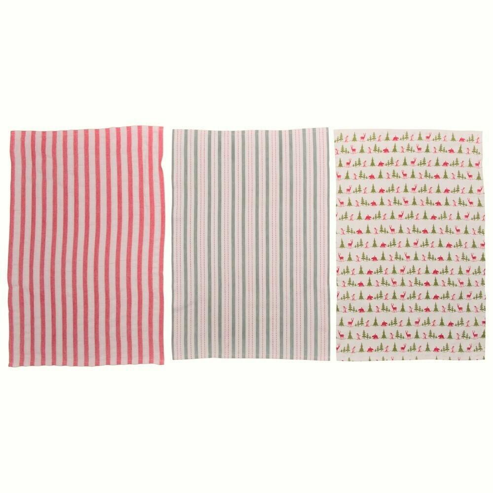 Christmas Tea Towels, Set Of 3