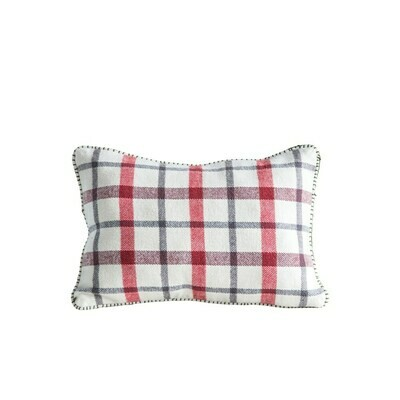 Brushed Cotton Plaid Pillow, 12x18