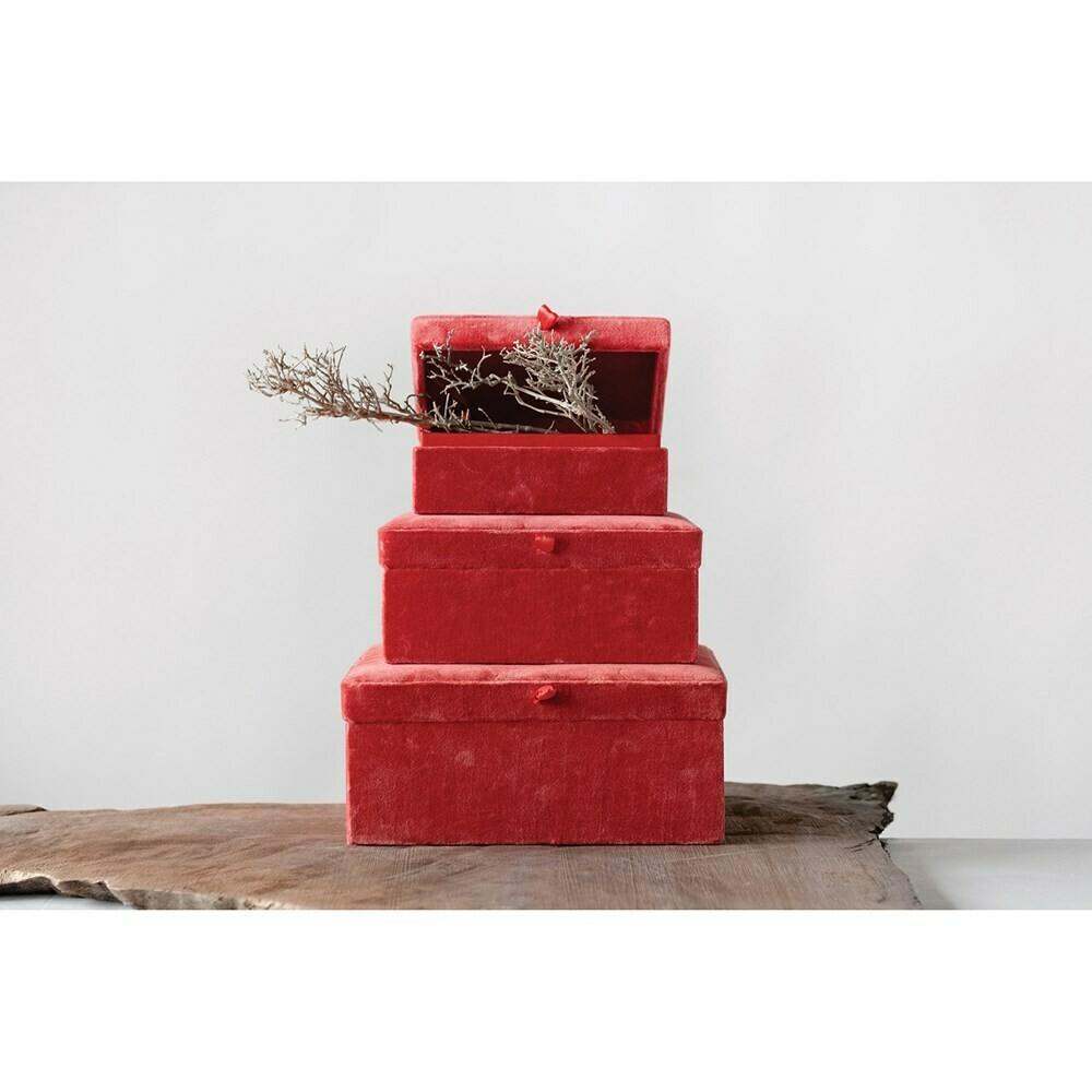 Velvet Boxes, Set Of 3