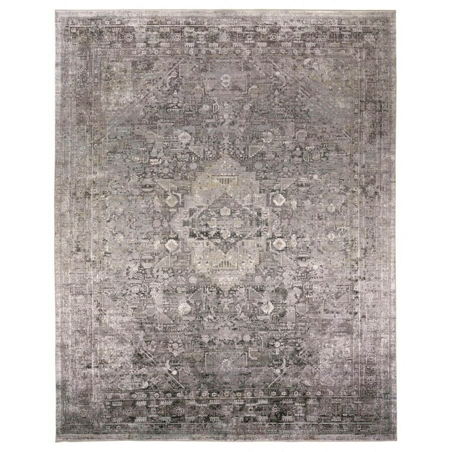 Sarrant Viscose Rug - Grey