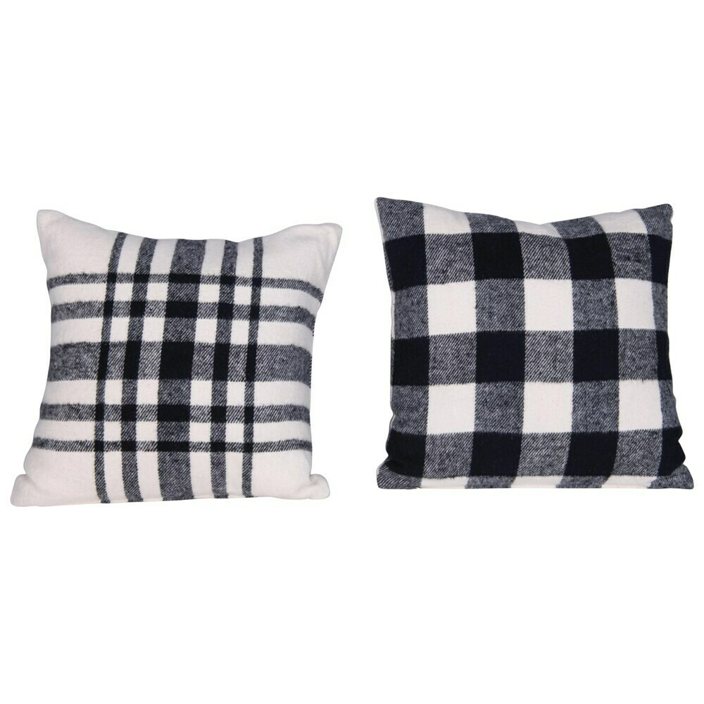 Reagan Cotton Flannel Plaid Pillow 16""