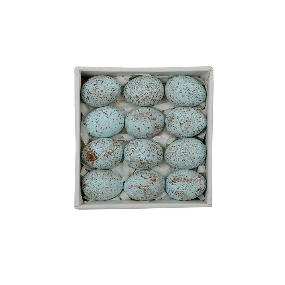 Ceramic Eggs, Blue Speckled