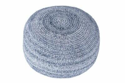 Indigo Hand Crocheted Pouf