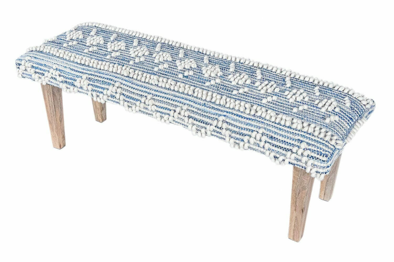 Reanna Handwoven Recycled Denim Bench