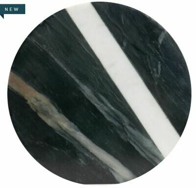 Black & White Marble Round Cheese Board