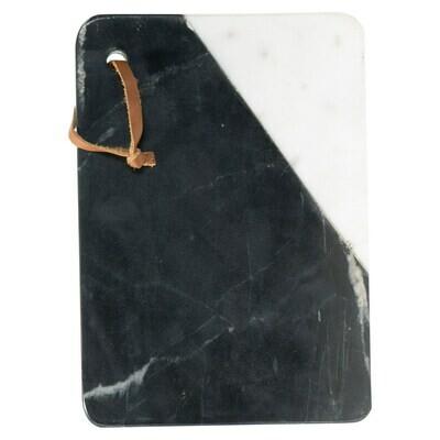 Black & White Rectangular Marble Cheese Board