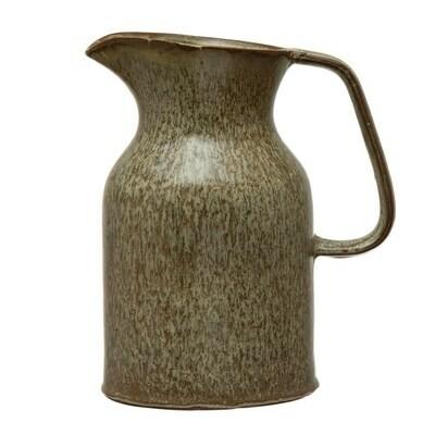 Stoneware Pitcher, Brown