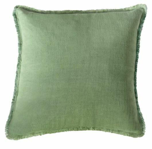 Green Linen Pillow 20x20
