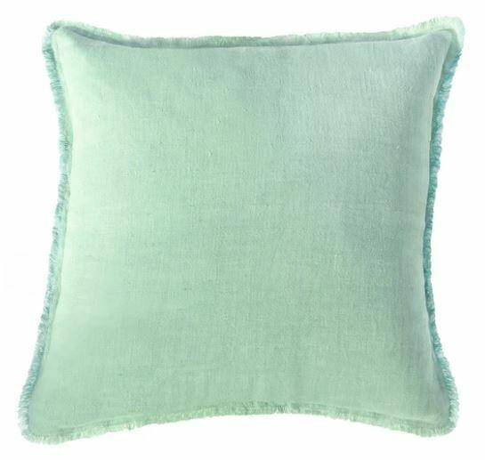 Mint Green Linen Pillow 20x20