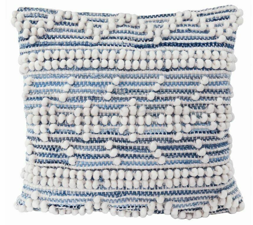 Reanna Handwoven Recycled Denim Pillow 20x20