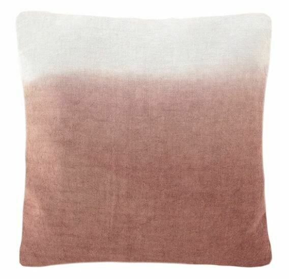 Ombre Linen Pillow, Terracotta 20x20