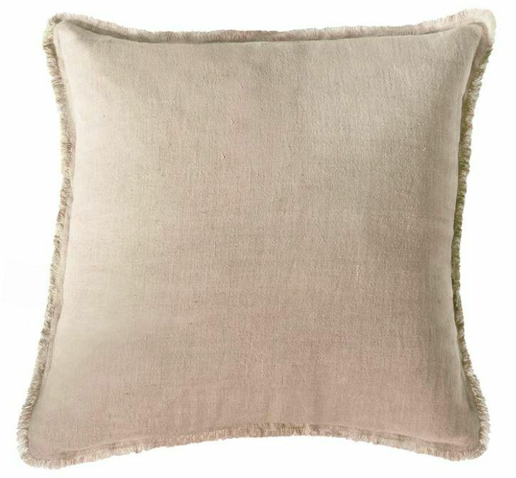 Taupe Linen Pillow 26x26