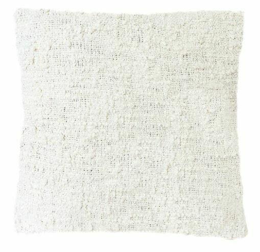 Whitney Slub Cotton Pillow, White 20x20