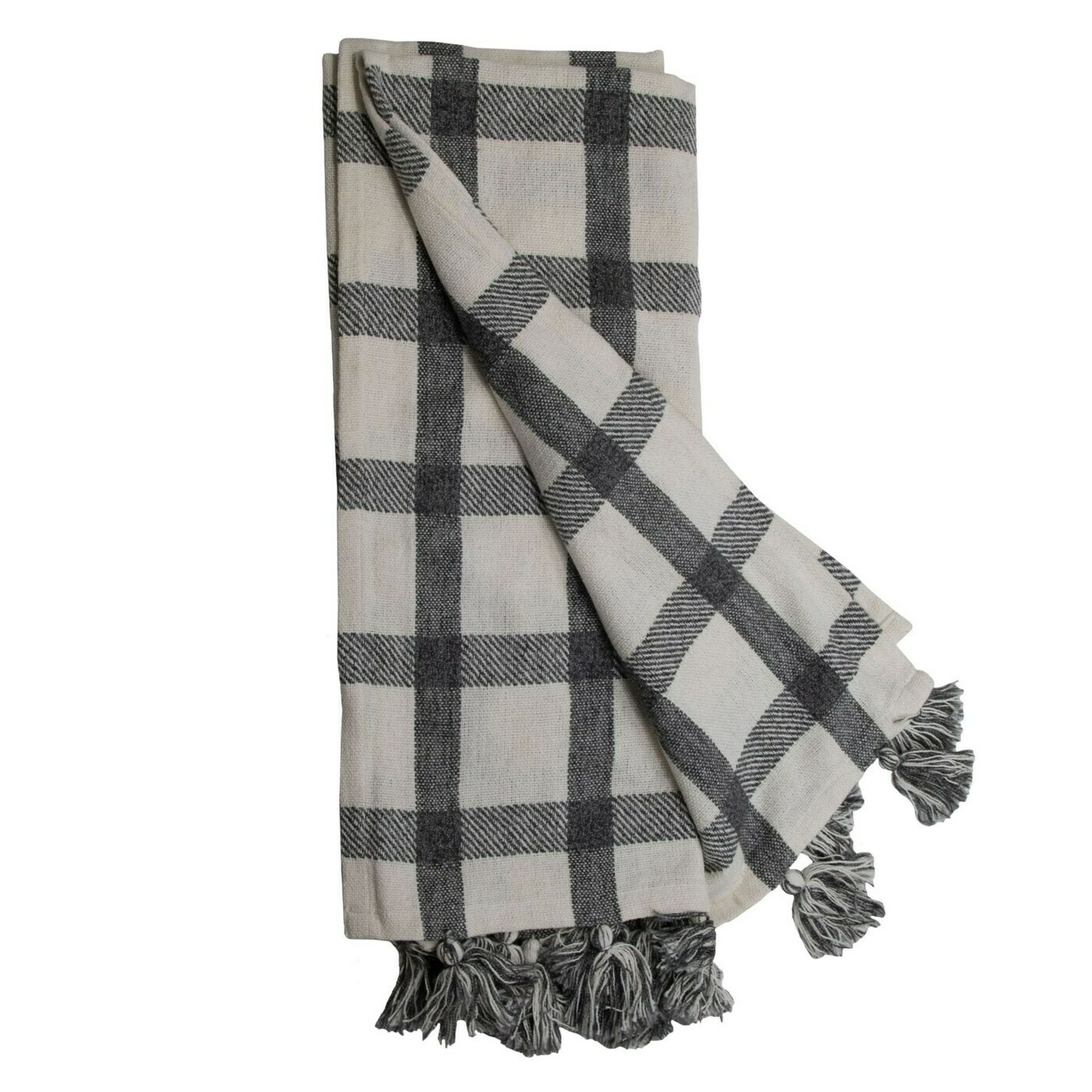 Jacqueline Hand Woven Throw Black